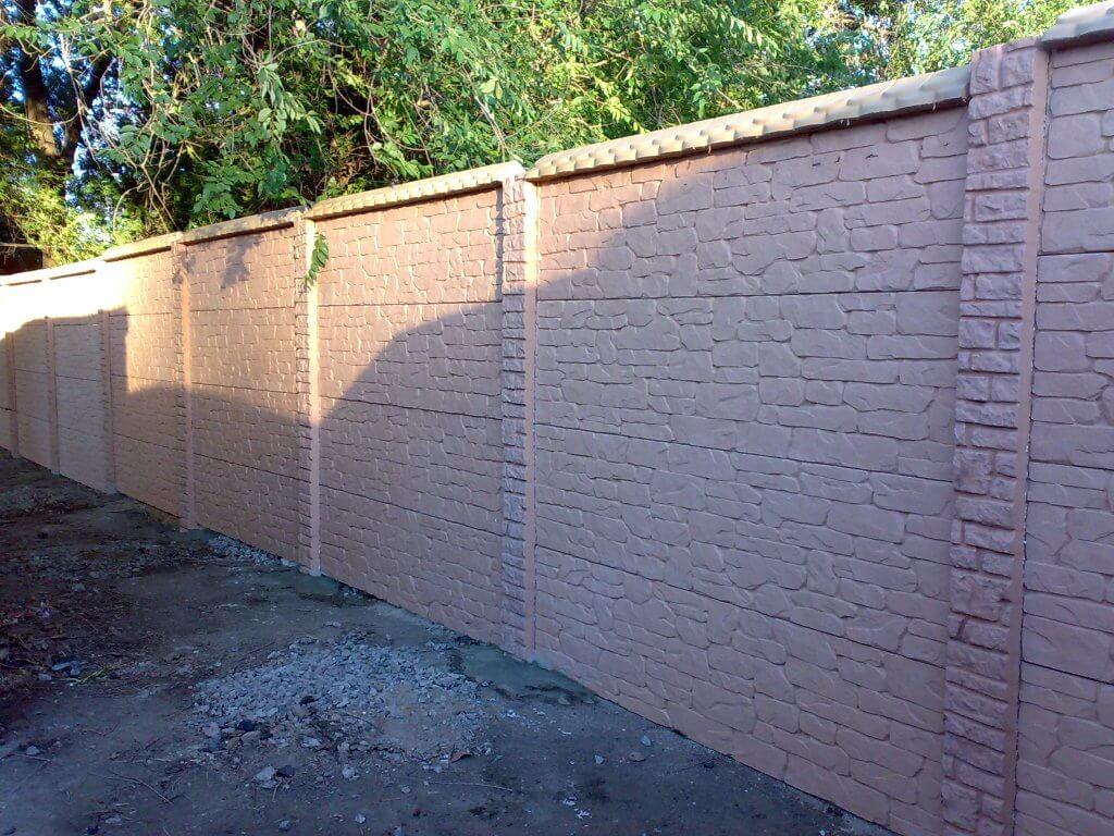 бетонный забор фотогалерея