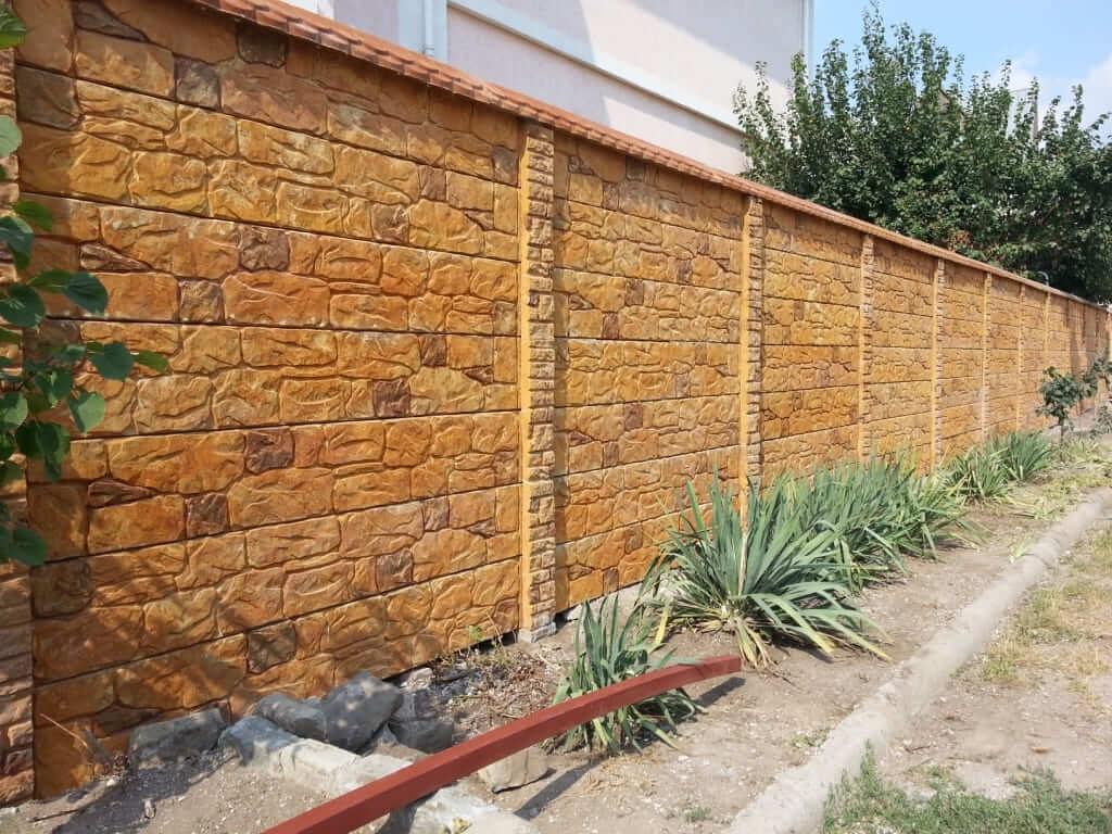 декоративные бетонные заборы фото